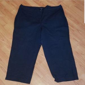 Talbots lightweight black capri pants plus size